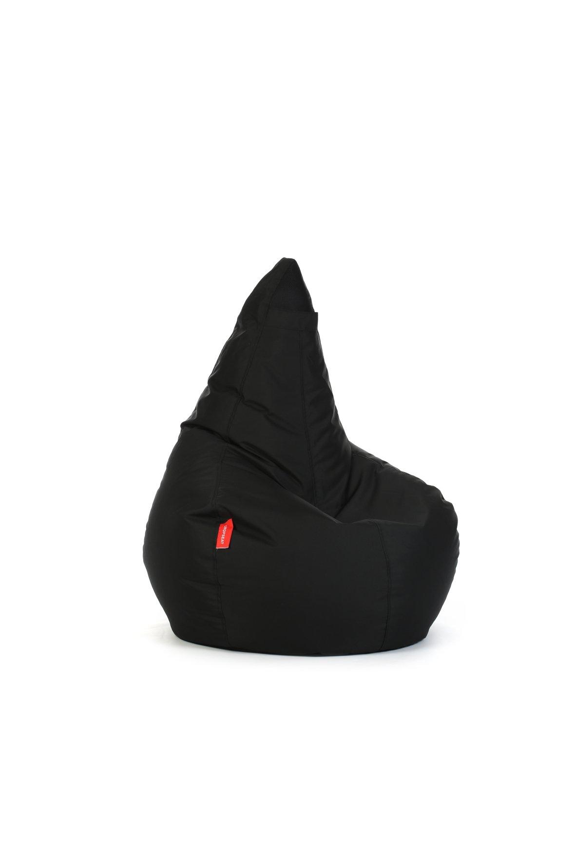Zwarte dropseat zitzak