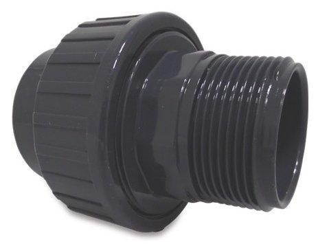 PVC koppeling 50 x 1 1/2