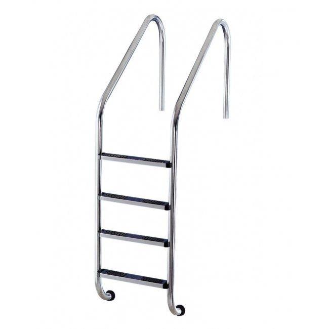 Inox zwembad ladder met 4 treden