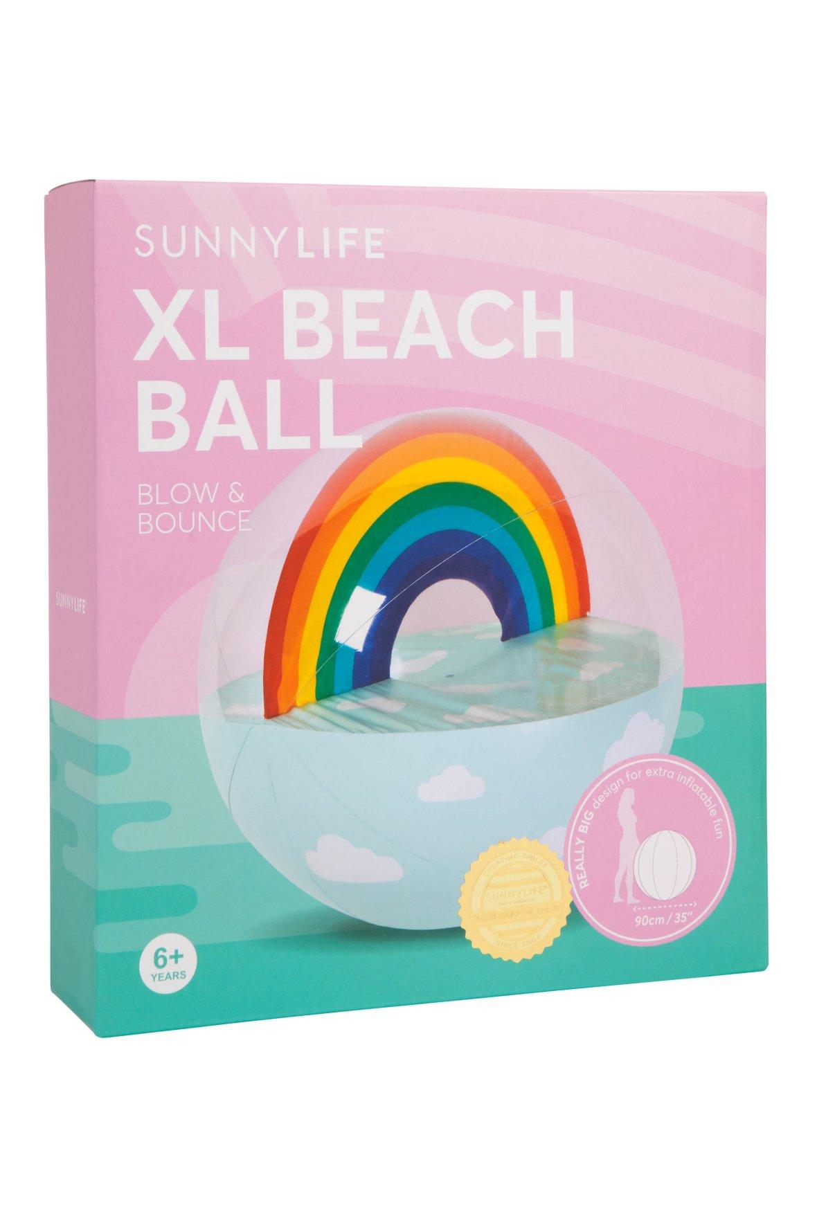 regenboog strandbal XL