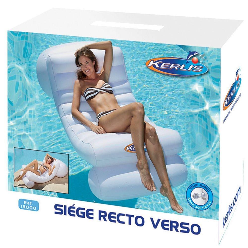 Opblaasbare witte zwembadstoel