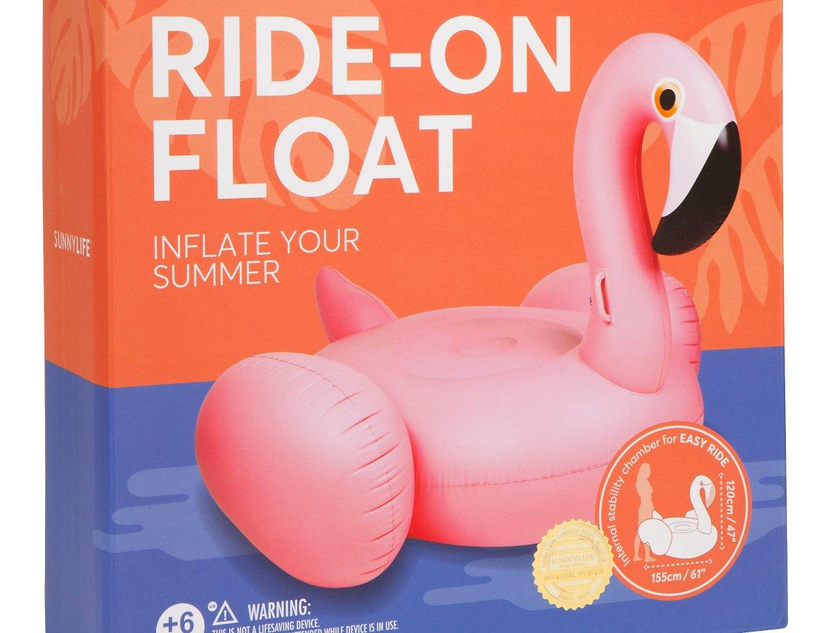 Gigantische Flamingo Float