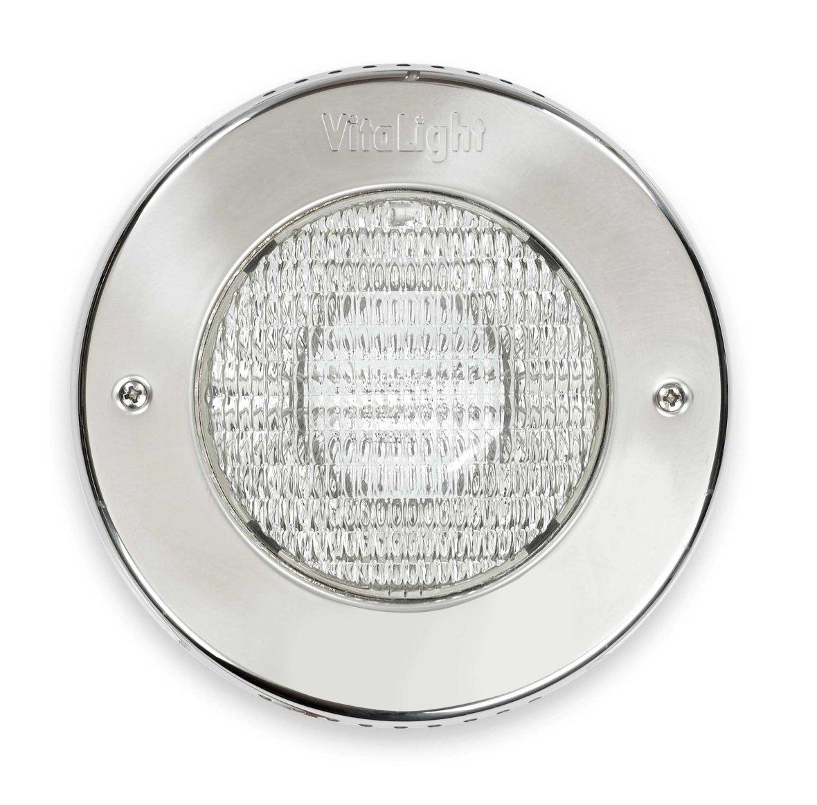 Inox halogeenlamp voor betonnen zwembad