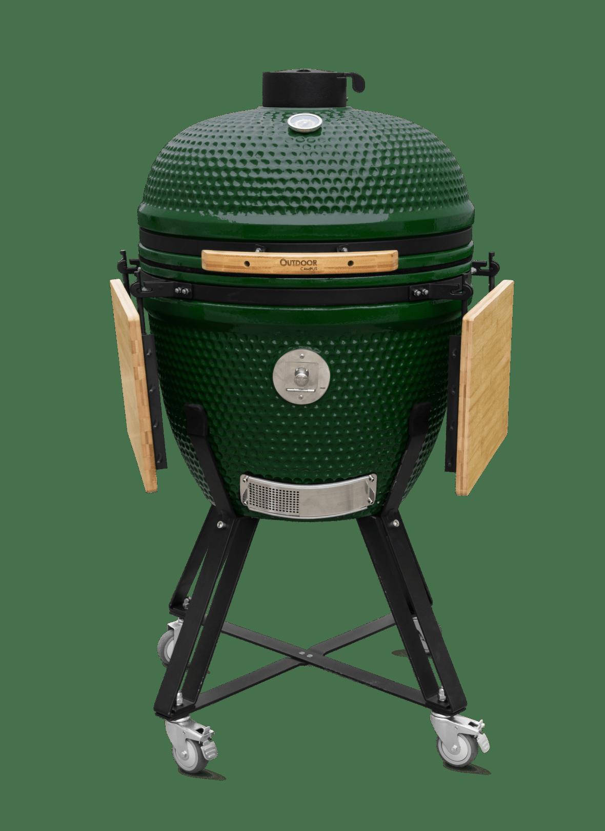 Houtskoolbarbecue met keramisch deksel