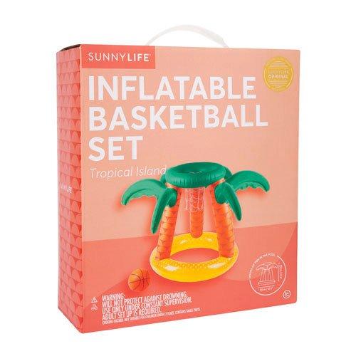 Opblaasbaar basketbalspel