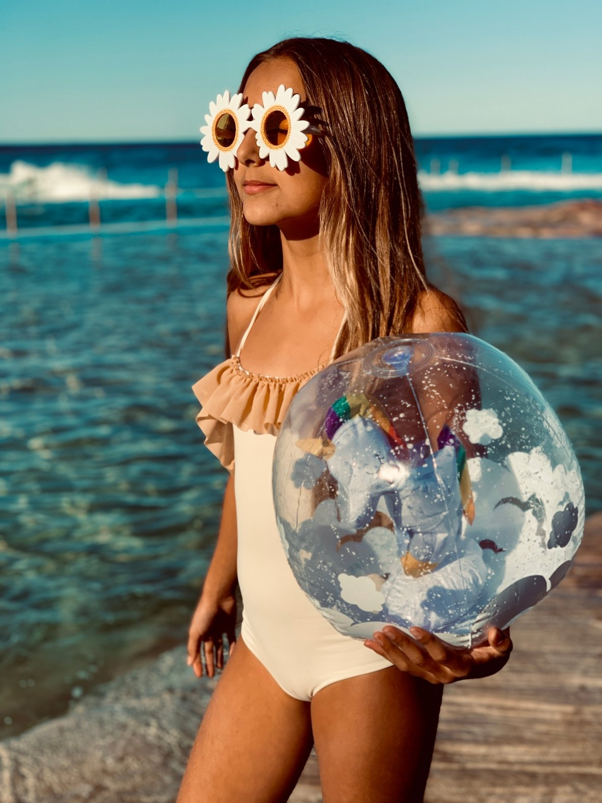 Opblaasbare strandbal | 3D Eenhoorn