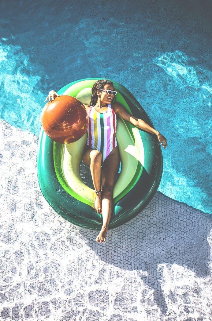 Luchtbed Avocado   Swim Essentials