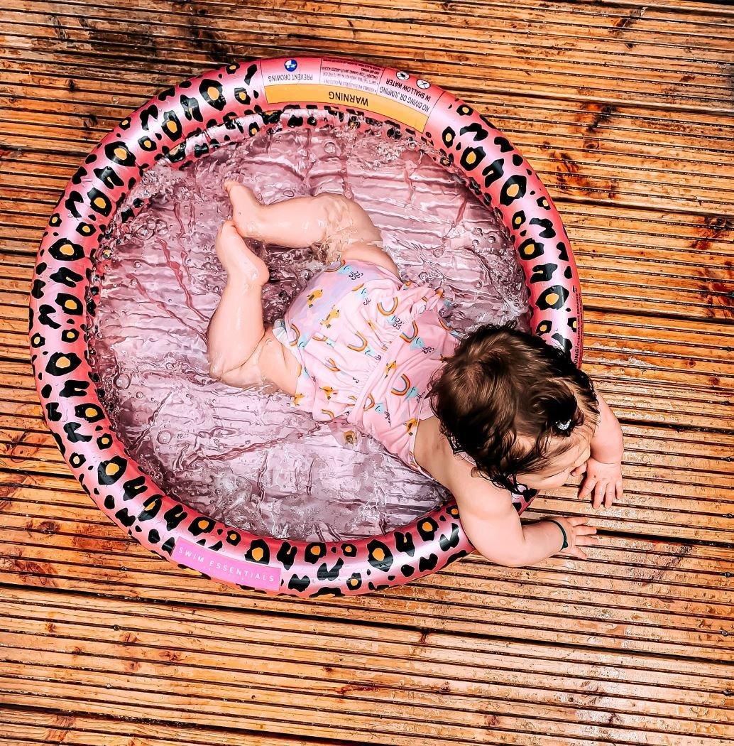Baby zwembad Rosé goud panterprint | Swim Essentials