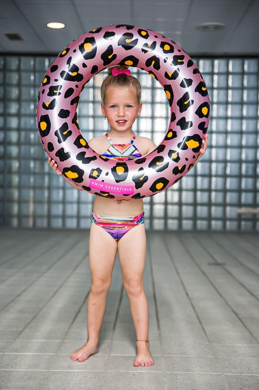 Kinderzwemband Rosé gouden Panterprint