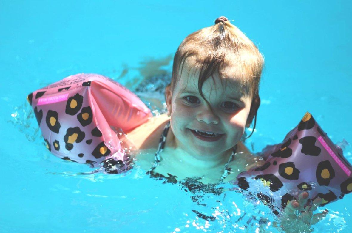 Zwembandjes Rosé gouden Panterprint