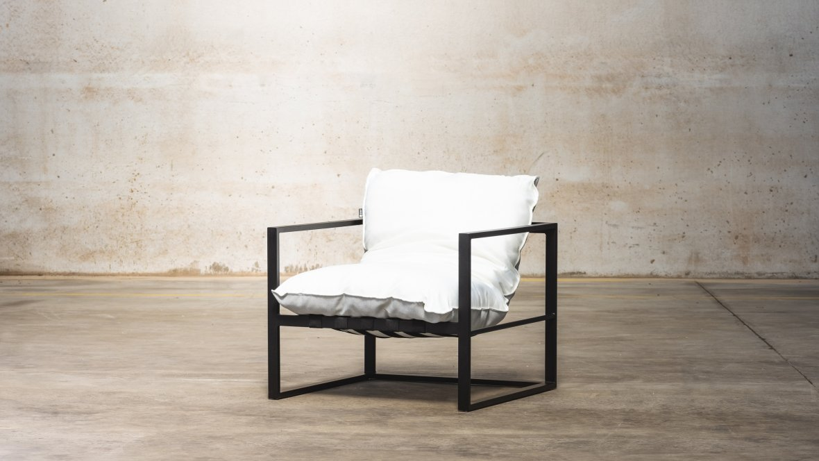 Enkel ligbed | STAY Framed Singe Sofa Natté white