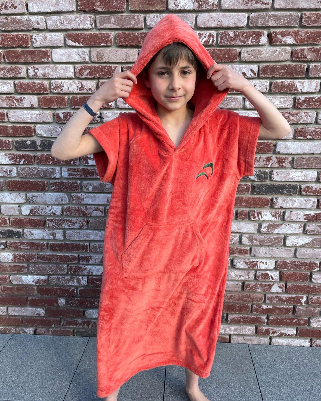 Badstof poncho Kids Oranje