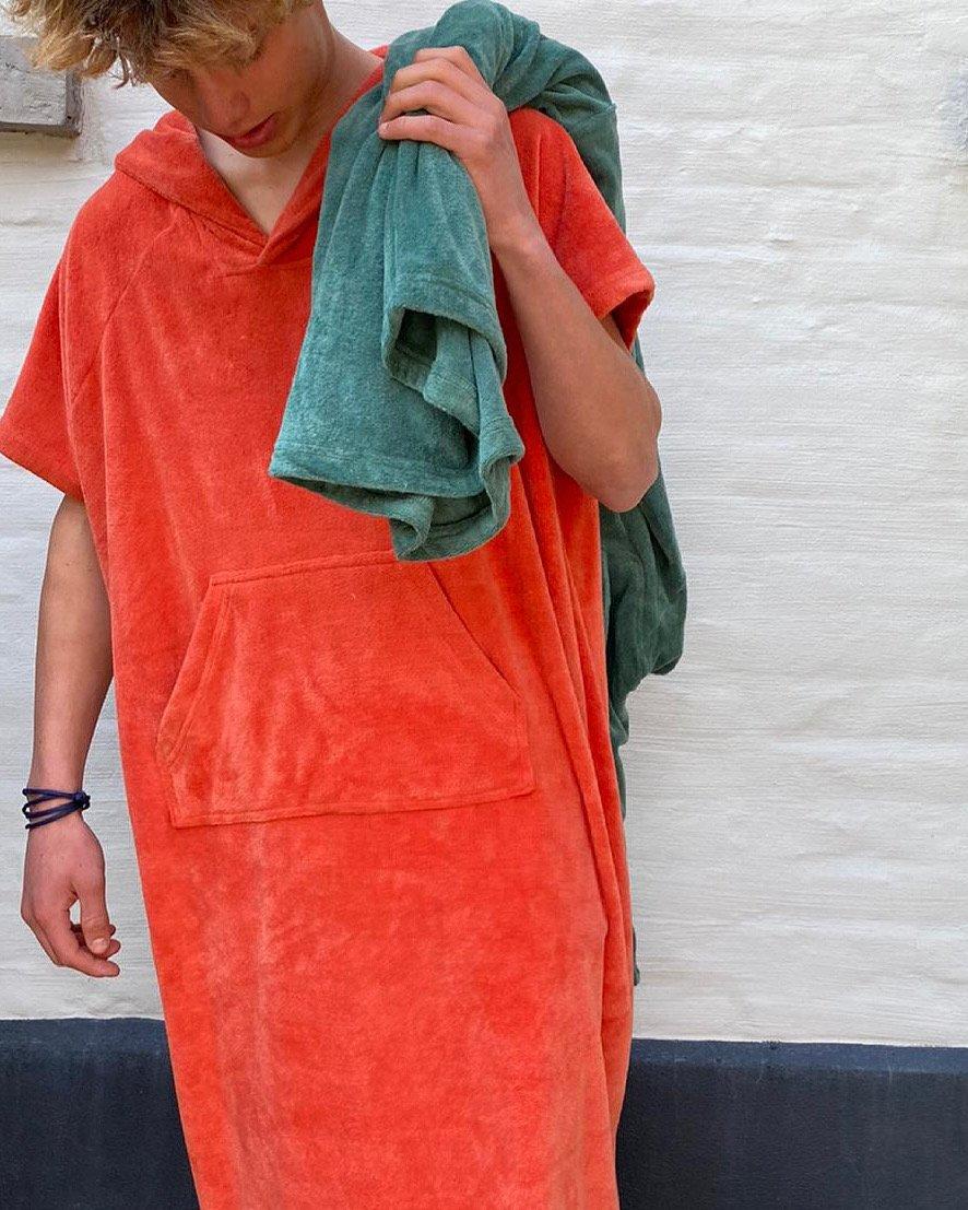 Poncho uit badstof | Oranje