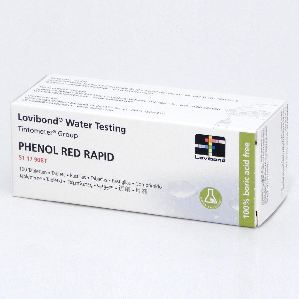Phenol Red Rapid reservepilletjes Lovibond (100 stuks)